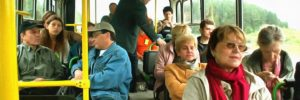 В автобусе…